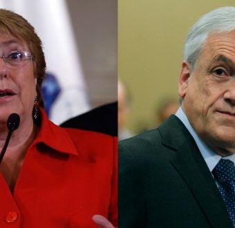 """Bachelet y Piñera tras los incendios: problemas de """"piso"""" y """"techo"""""""