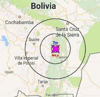 Sismo de magnitud 6,5 afecta a Bolivia