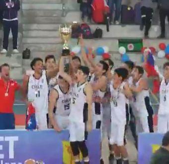[VIDEO] El festejo de Chile tras la hazaña en el Sudamericano Sub 17 de básquetbol