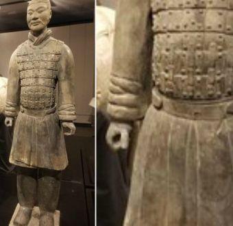 China exige severo castigo a vándalo que robó dedo a un guerrero de terracota