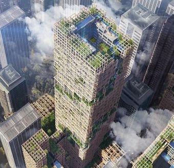 Así es el rascacielos de madera más alto del mundo que quiere construir Japón
