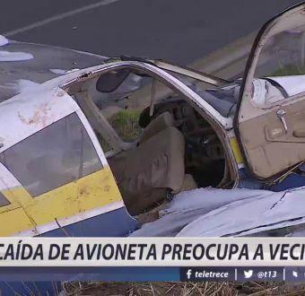 [VIDEO] Accidente en Peñalolén: caída de avioneta preocupa a vecinos
