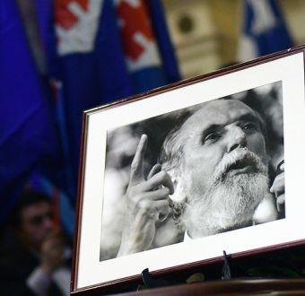 [FOTOS] Figuras del mundo político despiden a Andrés Aylwin en la sede del Congreso en Santiago