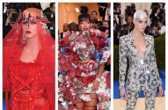 Katy Perry, Rihanna y Cara Delevingne en la gala del MET 2017