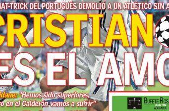 """""""Monstruoso, Marciano y Amo"""": Así tilda la prensa a Cristiano Ronaldo tras triplete en Champions"""