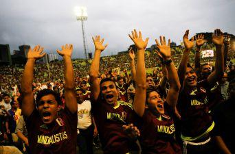 [FOTOS] El masivo recibimiento a la Vinotinto en Venezuela tras Mundial Sub 20