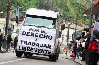 Camioneros en Valparaíso