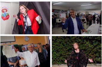 [FOTOS] Así fue la votación de Bachelet y los candidatos a La Moneda