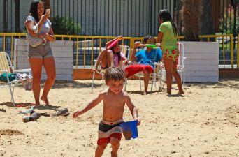 [FOTOS] Así fue la inauguración de la segunda playa artificial de Las Condes