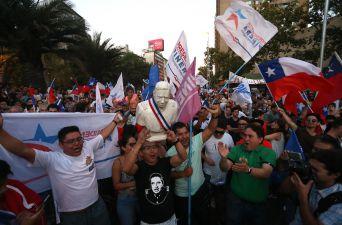 [FOTOS] Así fue la celebración de los adherentes de Piñera