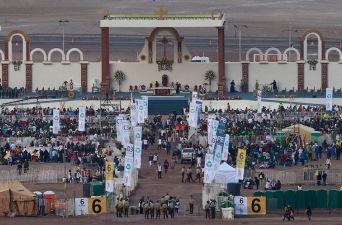 [FOTOS] La víspera de la misa del Papa Francisco en Iquique