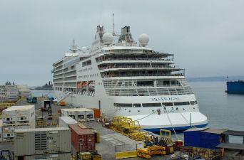 [Fotos] El arribo del crucero Silver Muse a Valparaíso