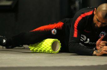 """[FOTOS] """"La Roja"""" vive intensa jornada de entrenamiento en el gimnasio"""