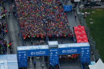 [FOTOS] Así se vivió el inicio de la Maratón de Santiago