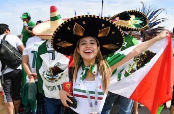 [FOTOS] La colorida fiesta que armó México en las tribunas del Rostov Arena