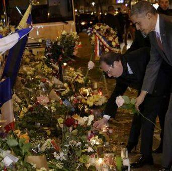 París: Obama homenajea a víctimas del ataque en Bataclan