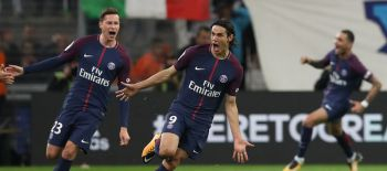 Cavani salva al PSG tras expulsión de Neymar en el clásico de Francia ante Marsella