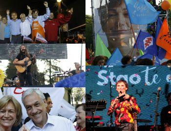 [FOTOS] Así fueron los cierres de campaña por elecciones municipales de este domingo