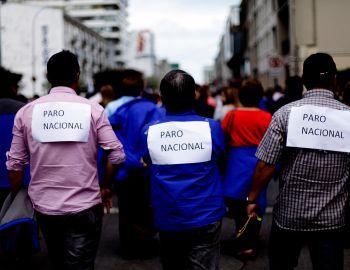 Valparaíso: funcionarios públicos inician paro nacional en rechazo a reajuste salarial