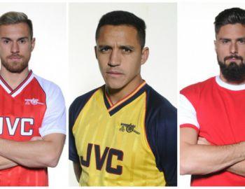 Alexis Sánchez se suma a la campaña del Arsenal con camisetas retro del club