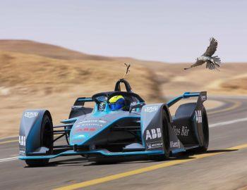 Formula E: Felipe Massa compite contra un halcón