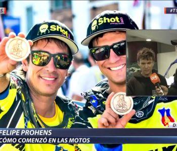 """[VIDEO] Piloto Felipe Prohens en D13 motos: """"Mi hermano nos inculcó la locura por las motos"""
