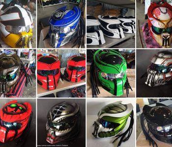 """[FOTOS] Unas obras de arte: Los espectaculares cascos de moto al """"estilo Depredador"""""""