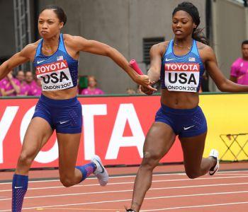 Allyson Felix fija nuevo récord de medallas tras oro en 4x100 metros de Londres 2017