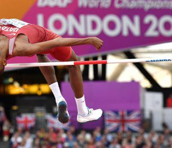 El catarí Mutaz Barshim gana oro en salto alto del Mundial de Atletismo