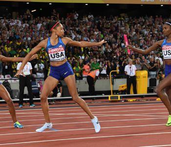 Allyson Felix eleva su récord de medallas ganando oro con EE.UU. en 4x400 damas