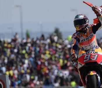 Marc Márquez gana en Aragón y es líder en solitario del Mundial de MotoGP