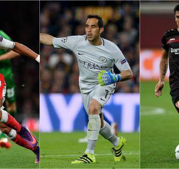 Revisa fechas y horarios de los futbolistas chilenos en Europa