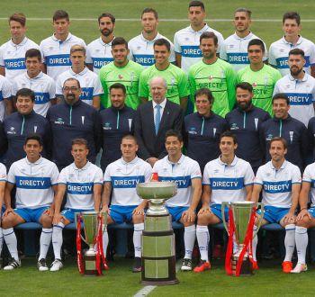La foto oficial de Universidad Católica bicampeón del fútbol chileno
