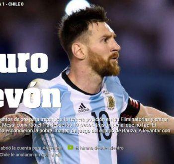 [FOTOS] A puro huevón: Así reaccionaron medios argentinos tras derrota de Chile