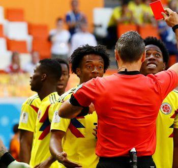 Colombia sufre con tempranera expulsión y cae ante Japón en su debut en Rusia 2018