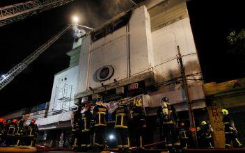 Discoteque Kmasú con riesgo de derrumbe tras incendio