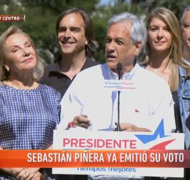 """[VIDEO] Sebastián Piñera: """"Espero que quienes creen que la violencia es la forma, no prevalezcan"""