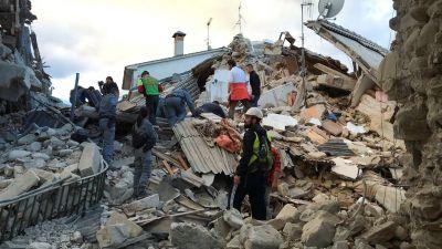 Así quedó la ciudad de Amatrice tras el terremoto que golpeó a Italia