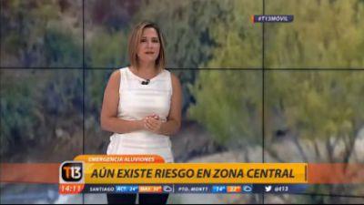 [VIDEO] Michelle Adam explica porqué se produjeron aluviones en la zona precordillerana