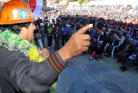 Evo Morales fue proclamado candidato de los cooperativistas en los últimos 10 años.