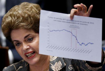 Dilma Rousseff se defiende ante el Senado de Brasil
