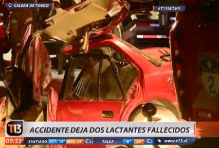 Accidente en Calera de Tango deja un adulto y dos lactantes fallecidos