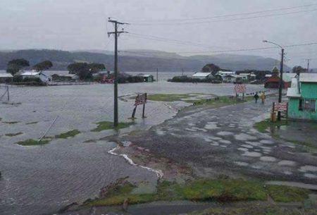 Chiloé: se registra desborde del río Cucao