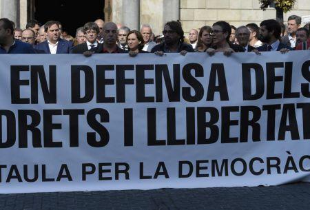 Crece tensión en Cataluña tras arresto de líderes independentistas