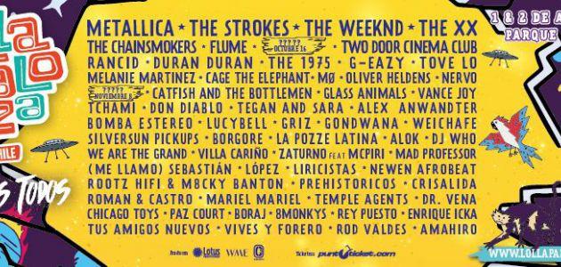 The Strokes, Metallica y The Weeknd lideran la séptima edición de Lollapalooza Chile