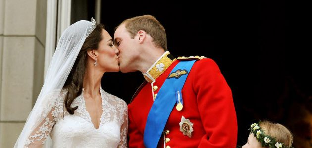 El príncipe William y Kate Middleton el día de su matrimonio, el 29 de abril de 2011