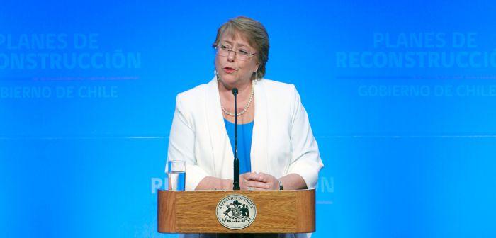 Bachelet dice que reconstrucción \