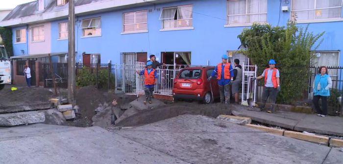 Rotura de matriz provoca corte de suministro de agua en Concepción