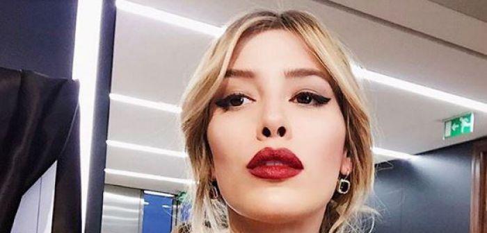 Michelle Gallego Salas en medio del Fashion Show de Milán