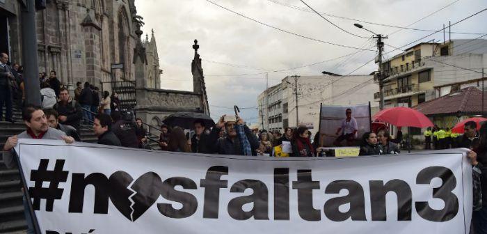 Fiscal de Ecuador asegura que familiares de equipo de prensa viajarán para reconocer los cuerpos